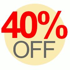 40% Off Overstock Sale