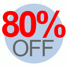 80% Off Overstock Sale