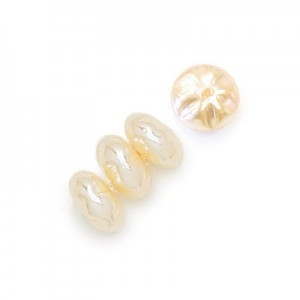 8mm Cream Pearl Baroque Spacer Pearls (300pc)