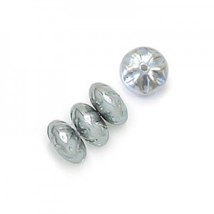 8mm Silver Pearl Baroque Spacer Pearls (300pc)