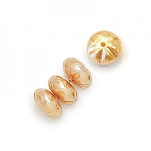 8mm Gold Pearl Baroque Spacer Pearls (300pc)