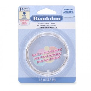 Beadalon® German Style Wire Round Gold Color 14 Gauge 1.6mm (.060in) 1.3m (4.3ft)