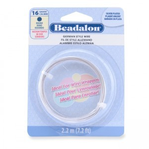 Beadalon® German Style Wire Round Silver Plated 16 Gauge 1.3mm (.050in) 2.2m (7.2ft)