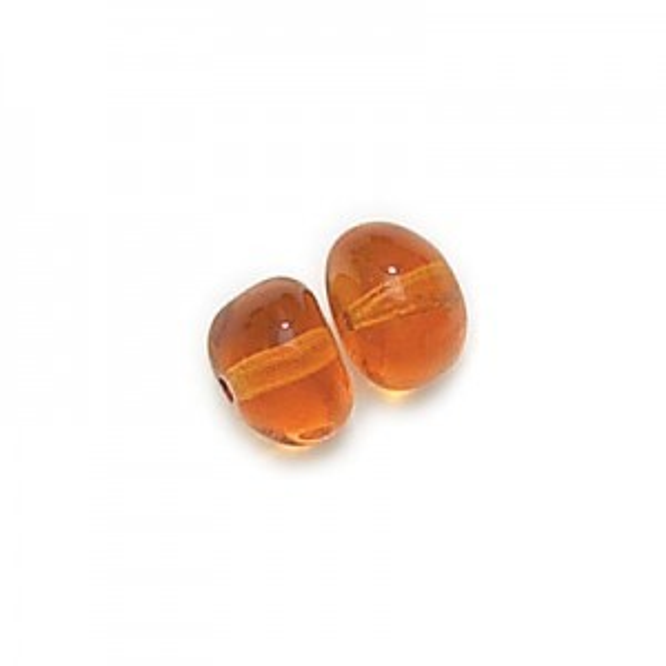 6x8mm Topaz Potato Shaped Glass Beads Loose (300pc)