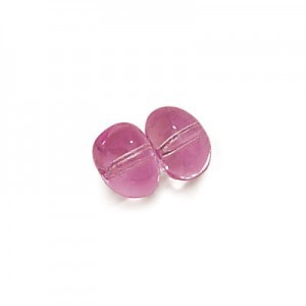 6x8mm Amethyst Potato Shaped Glass Beads Loose (300pc)