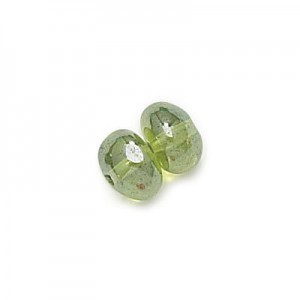 4x6mm Olivine Shimmer Potato Shaped Glass Beads Loose (600pc)