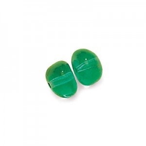 6x8mm Teal Potato Shaped Glass Beads Loose (300pc)
