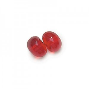 4x6mm Siam Potato Shaped Glass Beads Loose (600pc)