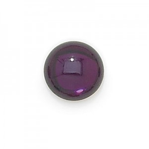 5mm Amethyst Transparent Round Glass Cabochons