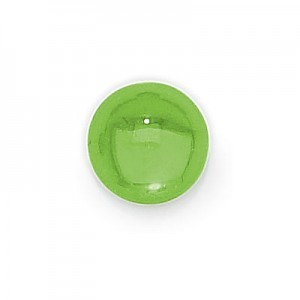 3mm Peridot Transparent Round Glass Cabochons