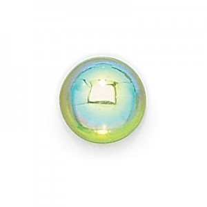 7mm Peridot AB Transparent Round Glass Cabochons