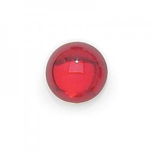 15mm Ruby Transparent Round Glass Cabochons