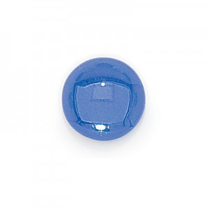 7mm Sapphire Transparent Round Glass Cabochons