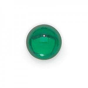 9mm Teal Transparent Round Glass Cabochons