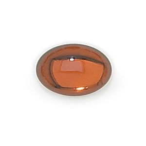 7x5mm Smoke Topaz Transparent Oval Glass Cabochons