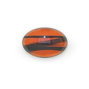 6x4mm Tortoise Shell Transparent Oval Glass Cabochons