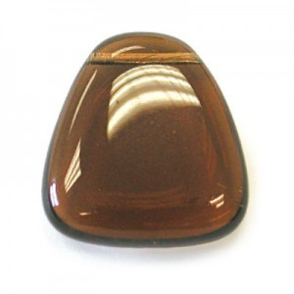 23x24mm Smoke Topaz Smooth Flat Triangle Pendant Loose (Priced Per Dozen)