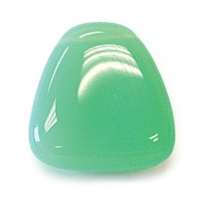 23x24mm Green Opal Smooth Flat Triangle Pendant Loose (Priced Per Dozen)