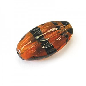 20x11mm Tortoise Shell Earthy Flat Oval Czech Glass Beads Loose (150pc)