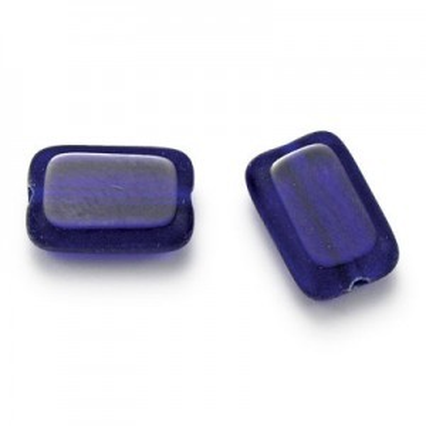 12x8mm Cobalt Chicklet Cut Beads (150pc)