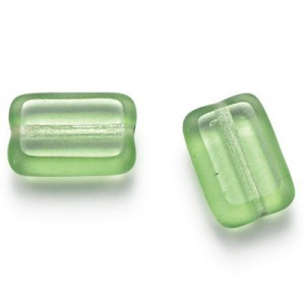 12x8mm Peridot Chicklet Cut Czech Glass Beads (300pc)