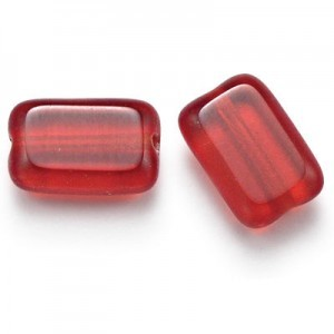 12x8mm Siam Chicklet Cut Czech Glass Beads (300pc)