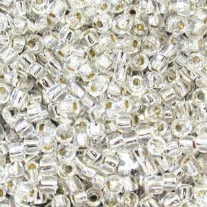 9/0 3 Cut Crystal Silver-Lined Strung Czech Beads 30,000 Pc. Per Pkg