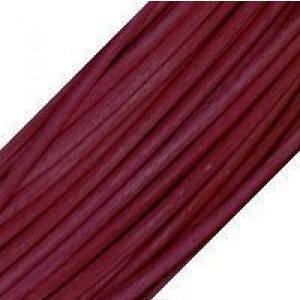 2mm Round Leather Cord USA™ Nat. Cyclaman - 50m(164ft) Large Spool