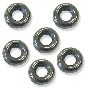 9mm Hematite Czech Glass Round Loop Rings Loose (300pc)
