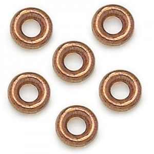 9mm Lumi Brown Czech Glass Round Loop Rings Loose (300pc)