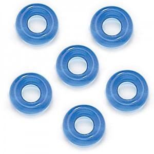 9mm Sapphire Czech Glass Round Loop Rings Loose (300pc)