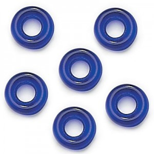 9mm Cobalt Czech Glass Round Loop Rings Loose (300pc)