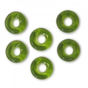 9mm Olivine Czech Glass Round Loop Rings Loose (300pc)