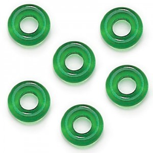 9mm Teal Czech Glass Round Loop Rings Loose (300pc)