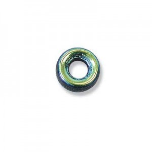 9mm Jet AB Czech Glass Round Loop Rings Loose (300pc)