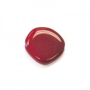15mm Blood Red Czech Glass Odd Coin Loose (150pc)