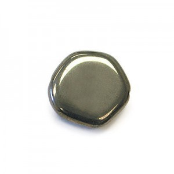 15mm Platinum Czech Glass Odd Coin Loose (150pc)
