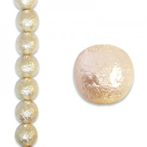 12mm Round Cream Ice Pearls - 4 Inch Strand (Apx 9 Beads)