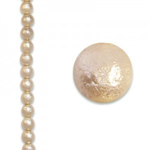 8mm Round Cream Ice Pearls - 4 Inch Strand (Apx 13 Beads)