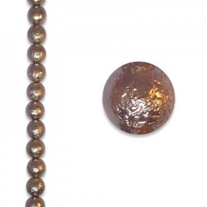 8mm Round Cocoa Ice Pearls - 4 Inch Strand (Apx 13 Beads)