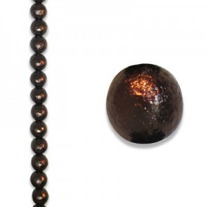 8mm Round Bronze Ice Pearls - 4 Inch Strand (Apx 13 Beads)