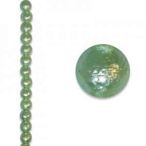 6mm Round Mint Ice Pearl - 4 Inch Strand (Apx 17 Beads)