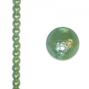 8mm Round Mint Ice Pearl - 4 Inch Strand (Apx 13 Beads)