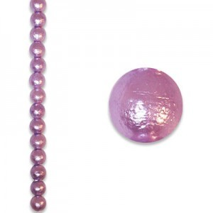 6mm Round Tanzanite Ice Pearl - 4 Inch Strand (Apx 17 Beads)