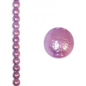 8mm Round Tanzanite Ice Pearl - 4 Inch Strand (Apx 13 Beads)