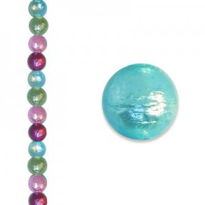 6mm Round Spring Brights Ice Pearl - 4 Inch Strand (Apx 17 Beads)