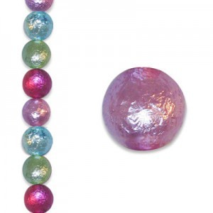 8mm Round Spring Brights Ice Pearl - 4 Inch Strand (Apx 13 Beads)