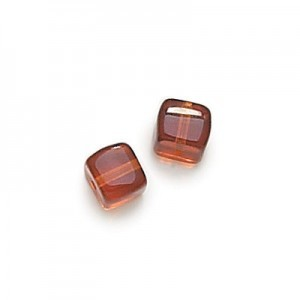 8x11mm Madeira Topaz Cube Beads Loose (300pc)