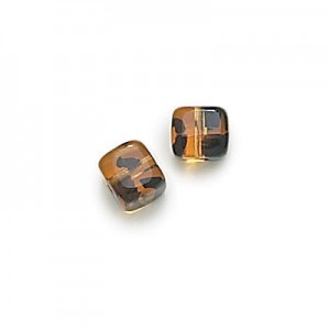 8x11mm Tortoise Shell Cube Beads Loose (300pc)