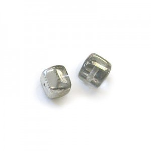 8x11mm Crystal Silver Cube Beads Loose (300pc)